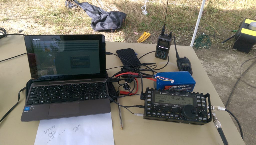 My setup: KX3, Laptop, LiFePo4 Battery and some handhelds